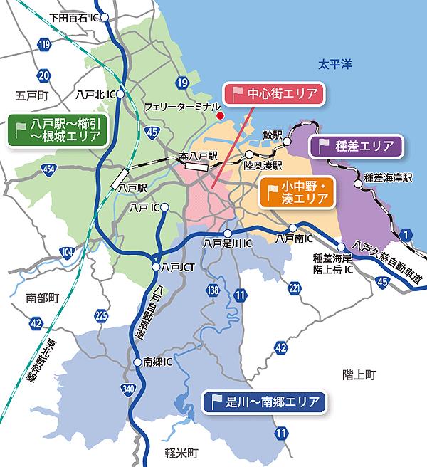 観光スポットマップ | 青森県八戸市