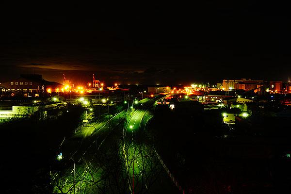 八太郎ヶ丘公園からの工場夜景